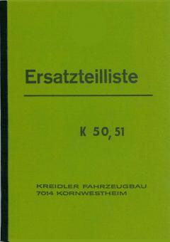 Kreidler K 50 K 51 Ersatzteil Liste Teile Katalog