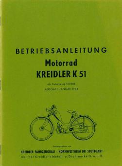Kreidler K51 Betriebsanleitung Anleitung