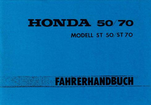 moped honda dax st 50 st 70 fahrer handbuch. Black Bedroom Furniture Sets. Home Design Ideas