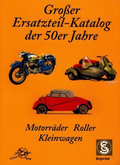 Motorräder Roller Moped Großer Ersatzteil Katalog der 50er Jahre Buch