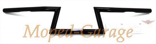 Harley Fehling Z - Lenker gebogen Schwarz 145mm