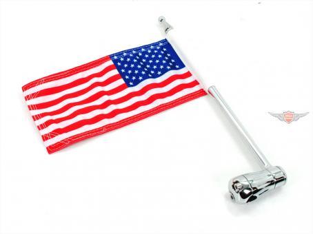 Harley Küryakyn USA Fahnen Halter 1/2 Zoll Chrom