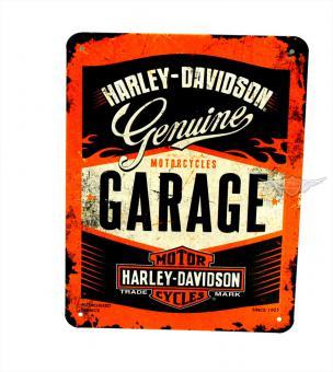 Harley Garage Blech Schild klein