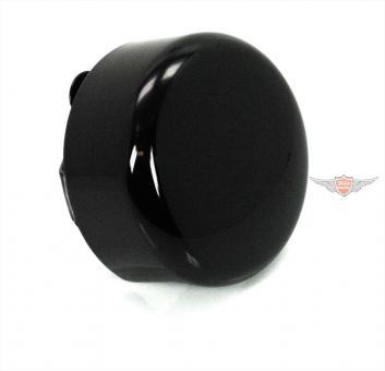 Harley Davidson V - Rod Horn Cover Round Black Glanz