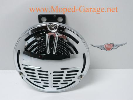 Harley Davidson Horn Hupe Drag Round Chrome Old Style
