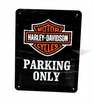 Harley Parking Only Blech Schild klein