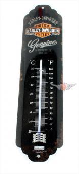 "Harley Motorrad "" Genuine "" Blech Thermometer Werkstatt Büro"