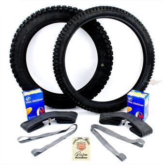 Hercules Supra Enduro Moped 17 / 19 Zoll Reifen Schlauch Band Satz 9 teilig