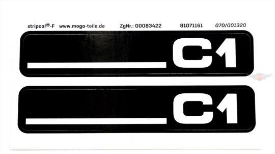 Hercules C1 City Bike Trittbrett Seitendeckel Aufkleber Dekor Schriftzug
