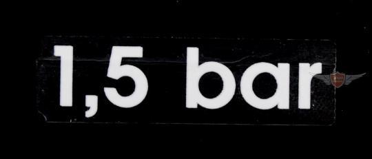 Hercules K 125 BW Vorderrad Schutzblech Aufkleber 1,5 bar