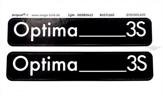 Hercules Optima 3S Trittbrett Seitendeckel Aufkleber Dekor Schriftzug