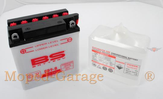 Zündapp KS 80 Sport Super 530 537 Batterie 12 Volt 9 Ah