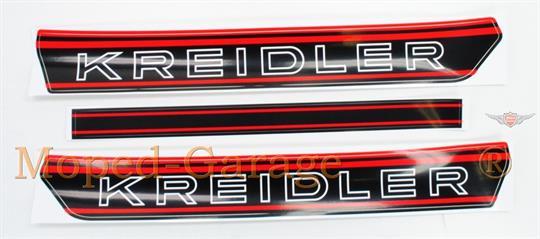 Kreidler Florett RS RMC Tankaufkleber Satz Rot Tank Aufkleber