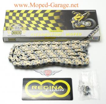 Mofa Mokick KKR Moped Kette 122 Glieder Gold