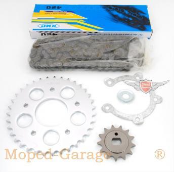 Kreidler Florett RS Kettensatz KMC ISO 9001 Kette 35 Kettenrad 13 Ritzel