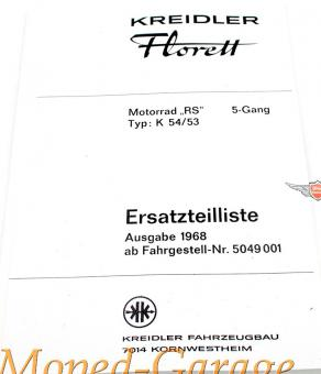Kreidler Florett RS K54/53 Ersatzteile Katalog