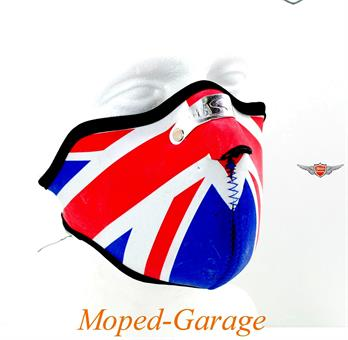 Maske Chopper Black Custom Neopren Union Jack