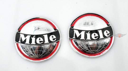 Miele K 52 53 Moped Mokick Original Tank Emblem Satz Alu poliert Neu