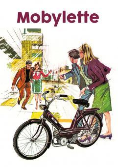 Motobecane Mobylette Moby M1 Werbe Plakat 60er Jahre