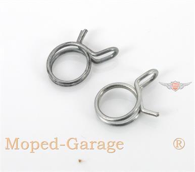 Mofa Moped Mokick Benzinschlauch Klemm Schellen Satz 7-9mm