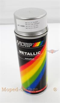 Mofa Moped Motip Farb Spray Dose Spraydose Silber Metallic 400ml