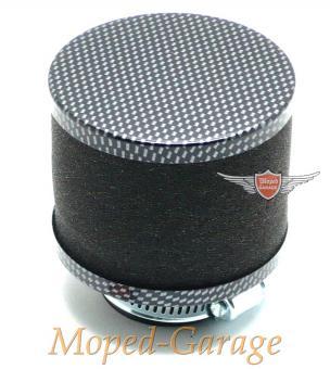 Tuning Mofa Moped Mokick Renn Sport Luftfilter Carbon Look 35mm