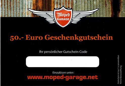 Moped Garage 50.- € Geschenk Gutschein