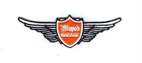 Moped Garage Flügel Logo Aufnäher Patch klein