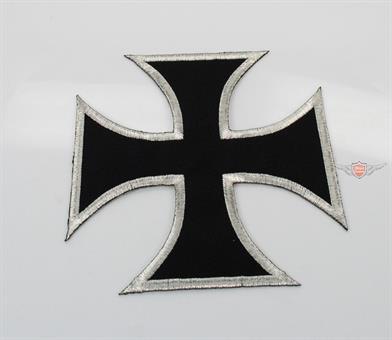 Moped Garage Iron Cross Kutte Patch Aufnäher Jeans Mofa Club Jacke 14cm