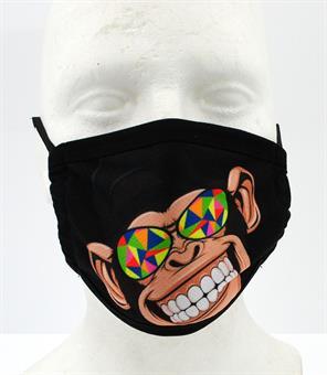 Moped-Garage Monkey Kinder Schutz Maske Mundschutz Microfaser waschbar