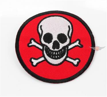 Moped Garage Poison Skull Kutte Patch Aufnäher Jeans Mofa Club Jacke 7cm Mokick