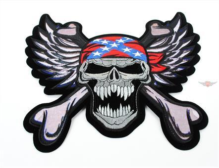 Moped Garage Skull Cross Kutte Patch Aufnäher Jeans Mofa Club Jacke 22cm Mokick