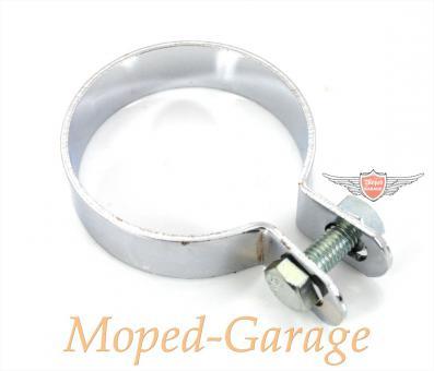 Mofa Moped Mokick Auspuffschelle 60 mm Chrom