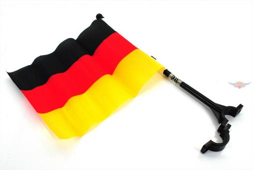 Mofa Moped Mokick Fahrrad Deutschland Lenker Fahne mit Halter