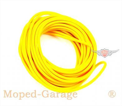 Mofa Moped Mokick Kabel 5m Gelb 0,5qmm