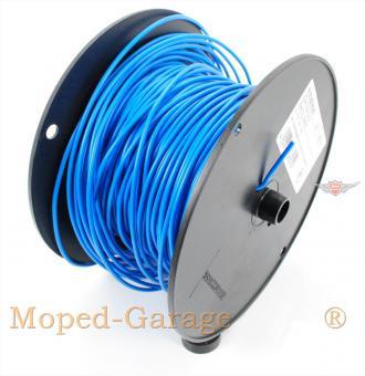 Mofa Moped Mokick Kabel Rolle 100m Blau 0,75qmm