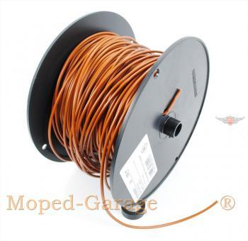 Mofa Moped Mokick Kabel Rolle 100m Braun 0,75qmm