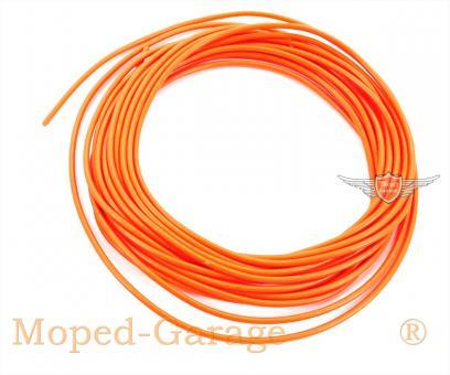 Mofa Moped Mokick Kabel 5m Orange 0,5qmm