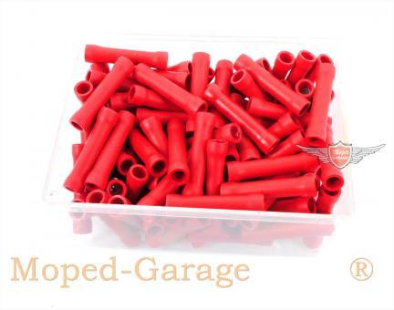 Mofa Moped Mokick Isolier Kabel Quetsch Verbinder Rot 100 Stück