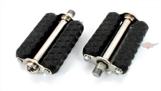 Mofa Moped original Retro Block Pedal Paar Schwarz