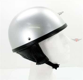 Oldtimer Halbschalen Helm Retro 50er Moped Silber