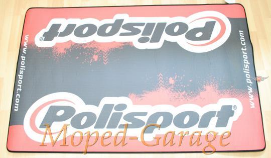Polisport Moped Roller Mokick Cross Garagenmatte Motorrad Teppich