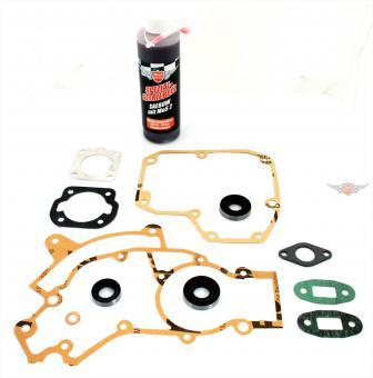 Puch Maxi 2 Gang Motor + Zylinder Dichtung Simmering Öl Satz Mofa Moped