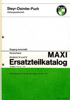 Puch Maxi N und S Ersatzteil Katalog Original Neu