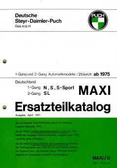 Puch Maxi N S Sport SL Ersatzteil Katalog Original Neu