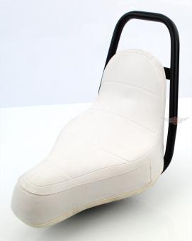Mofa Moped Mokick Puch Chopper Sattel Custom Style Weiß