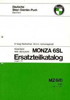 Puch Monza 6 SL Ersatzteil Katalog Original Neu