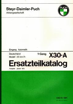 Puch X 30 - A Ersatzteil Katalog Original Neu