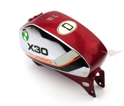 Puch X 30 Turbo Benzin Chrom Tank Rot Original Gebraucht