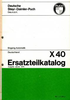 Puch X 40 Automatik Ersatzteil Katalog Original Neu